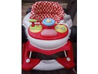 My Child F1 2 in1 Car Walker Racing Red First Steps Push Along Sound Activity RRP £59.99