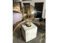 Concrete Lamp & Vintage Oversize Bulb