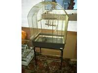 Parrot cage large parakeet with stand