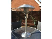 Unused patio table heater