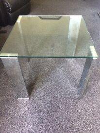 Glass/chrome coffee table/housing units