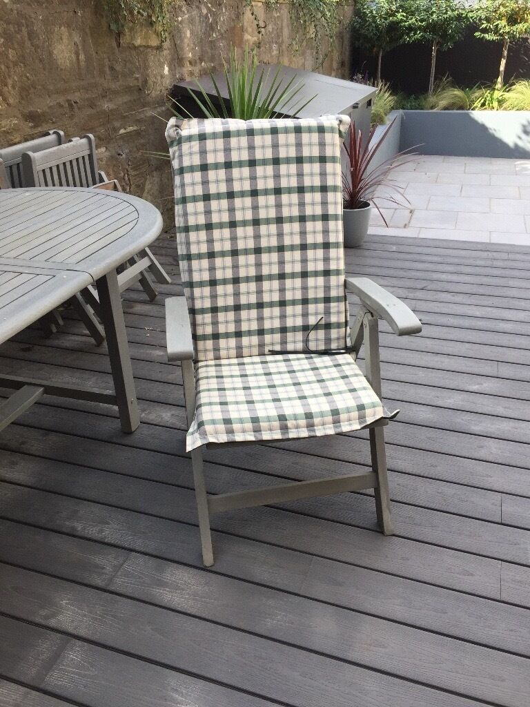 bq garden furniture 6 seater set with cushions and parasol - Garden Furniture Edinburgh