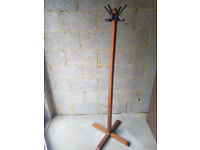 High Quality Wooden Retro Style Coat Stand H 1550 #243W