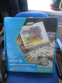 Reeves watercolour painting easel set,lots of unused items