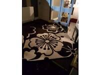 Cream & Black rug