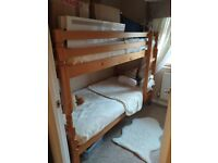 BUNK BED with NEW MATTRESSES