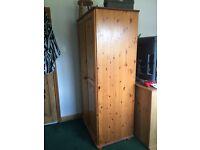 John Lewis Pine wardrobe, 185cm high x 92cm wide x 60cm deep