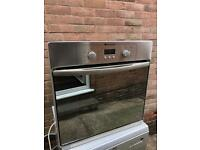 Hotpoint single oven stainless steel