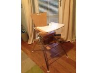 Küster K2 wooden/metal high chair with removable tray & net basket