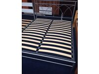 Brand NEW metal king size bed frame SILVER not double KINGSIZE RRP