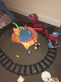 Kids ride on train