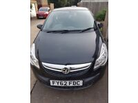 Black Vauxhall Corsa s ecoflex, 1.0, 3 door hatchback, 62 plate, petrol