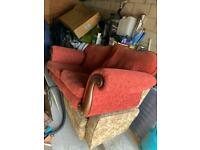 Two Seater Sofa - Vintage Style Scroll Armed