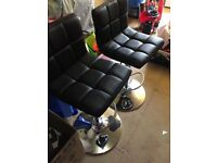 2 x black 'Next' bar stools