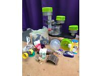 Rotastak creepy castle hamster cage with accesories