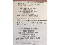 Neil Diamond 50th anniversary tour concert tickets