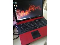Red Advent 15.6 inch Laptop Computer with Office