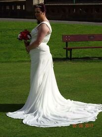 White wedding dress size 12-14