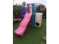 Little tikes tropical playground climbing frame and slide