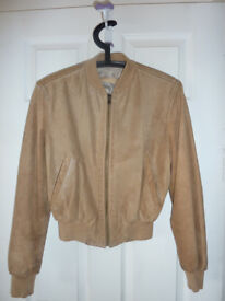 Real Italian leather jacket (Colour: beige; size: S)