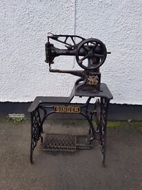 Scarce Antique Singer sewing machine for use with leather etc