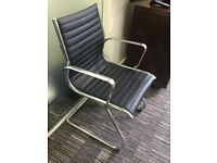 2 Black Timeless Designer Style Contemporary Conference Boardroom Reception Meeting Office Chair