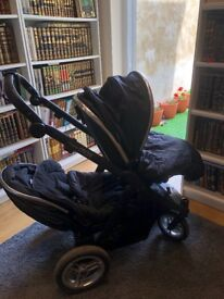 OFFERS WELCOME OYSTER MAX 2 tandem twin black pushchair icandy