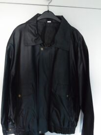 Mens Faux Leather Flying Jacket