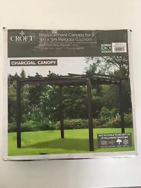 Brand new Replacement canopy for a 3m x 3m Pergola Gazebo.