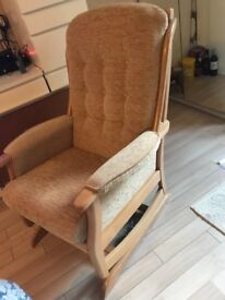 JC&MP Smith lambourne sprung rocking chair, bought from George &knowles furniture warehouse