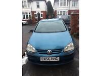 VW Golf 1.6 FSI petrol only 84k miles 56 plate