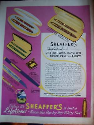 1938  Sheaffer's Fineline Feathertouch Pencil Pen Ad