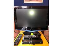 "19"" Samsung flat screen tv and freeview box"