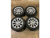 "Set of 20"" genuine Range Rover alloy wheels and tyres . Range Rover sport discovery vogue"