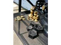 Brass kitchen scales