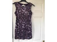 Amy Childs Purple Sequin Dress