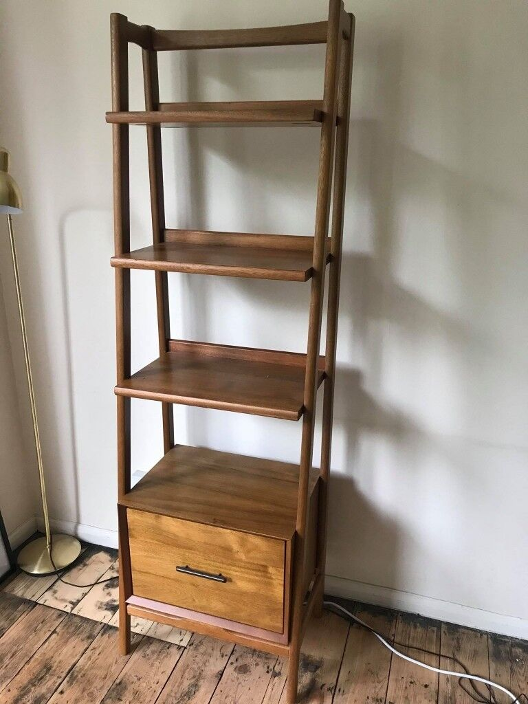 West Elm Mid Century Narrow Bookshelf Acorn