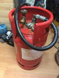 Lpg Small 5/6kg 12ltr Refillable Four Hole Cylinder With Gauge