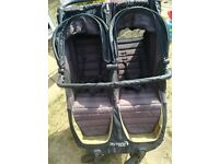 GT Baby Jogger City mini double pushchair Inc raincover and bellybar