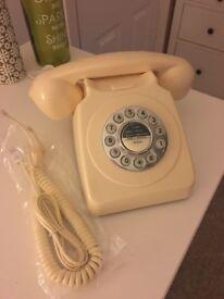 Retro Cream Push Button Phone