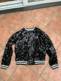 Kids Black sequin jacket