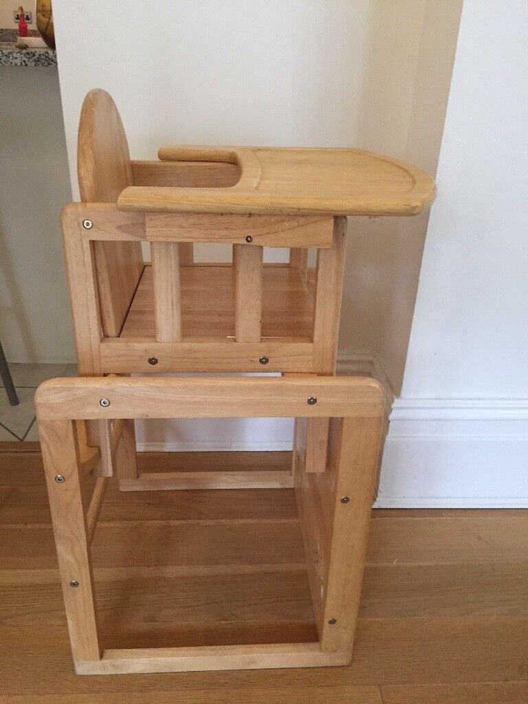 High Chair Which Turns Into Table And