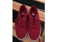 Brand new red vans -size 4
