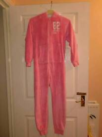 Next pink onesie all in one suit age 10 years