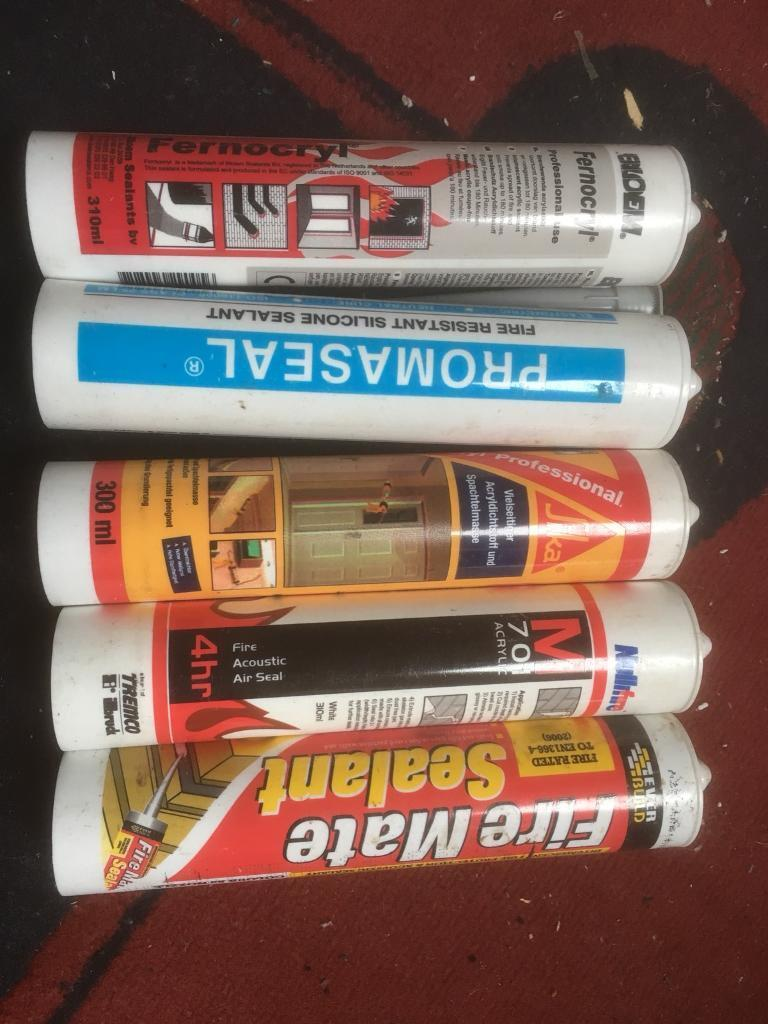 JOB LOT OF FIRE PROOF SILICONE SEALENT FOR £1 LOOK A BARGAIN