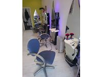 Hairdressing, 3 X REM chairs + 1 x backwash + mirrors job lot.