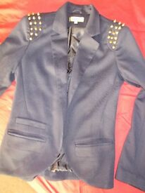Navy stud jacket size 10 UK