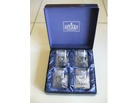 Stuart Crystal Glass 9 oz Rummers. (Brand new boxed set.)