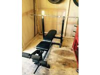 Marcy Weight bench & weights