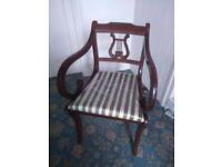 Attractive Vintage mahogany armchair